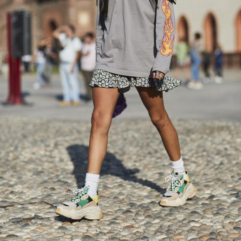 Sneakers till klänning