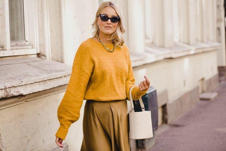 Style kjolen med genser over! – Kaja Marie