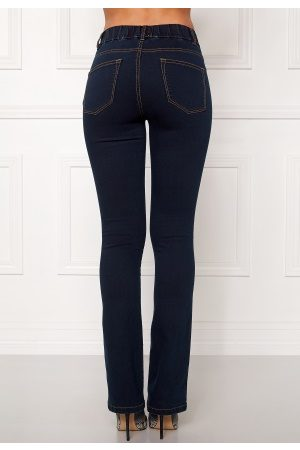 Dame Bootcut - Happy Holly Elwira Jeggings Mørkdenim 36S