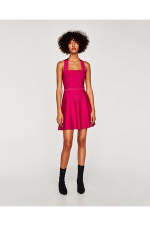 Zara STRIKKEKJOLE MED KRYSSET RYGG - Tilgjengelig i flere farger