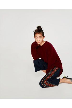 Zara Dame Culotte bukser - CULOTTEBUKSE MED BRODERI