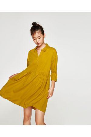 Zara SKJORTEKJOLE MED VOLANGER - Tilgjengelig i flere farger