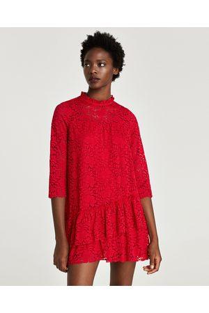 Zara BLONDEKJOLE MED VOLANGER - Tilgjengelig i flere farger