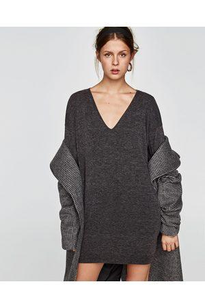 Zara STRIKKET KJOLE MED LANGE ERMER - Tilgjengelig i flere farger