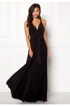 Goddiva Multi Tie Maxi Dress Black S (UK10)