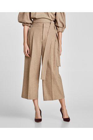 Zara Dame Culotte bukser - CULOTTEBUKSE MED LEGG