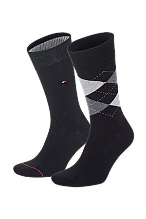 Tommy Hilfiger Men Sock Check 2-pakning * Fri Frakt *