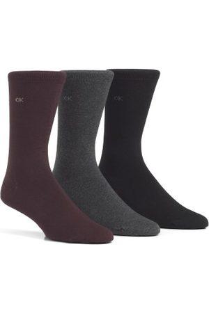 Calvin Klein Eric Cotton Flat Knit Socks 3-pakning * Fri Frakt