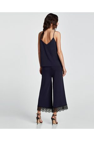 Zara Dame Culotte bukser - CULOTTEBUKSE MED BLONDER