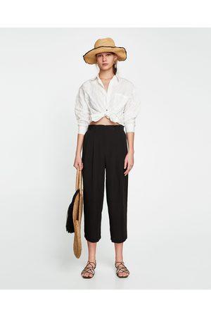 Zara Dame Culotte bukser - CULOTTEBUKSE PAPERBAG-MIDJE