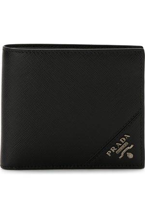Prada Logo plaque bi-fold wallet