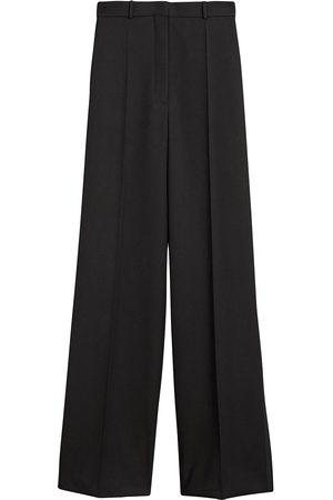 Burberry Wide leg wool trousers