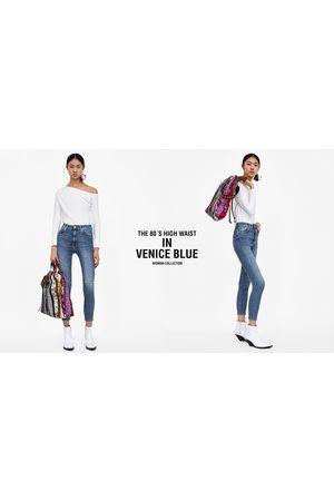 Zara Dame High waist - JEANS ZW PREMIUM 80´S HIGH WAIST VENICE BLUE