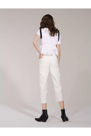 Zara Dame High waist - JEANS HIGH WAIST CULOTTE PURE WHITE