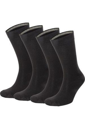 Topeco 4-pakning Mens Socks Plain Bamboo * Fri Frakt