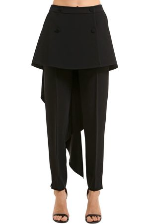 ANTONIO BERARDI Stretch Cady Pants W/ Skirt Panels