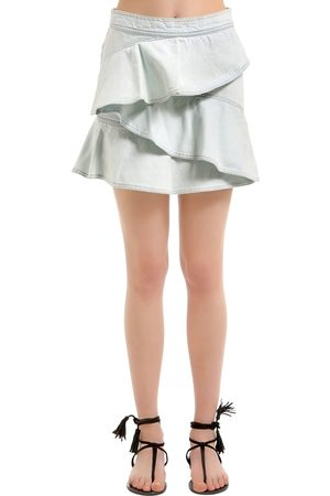 Isabel Marant Cotton Denim Ruffled Skirt