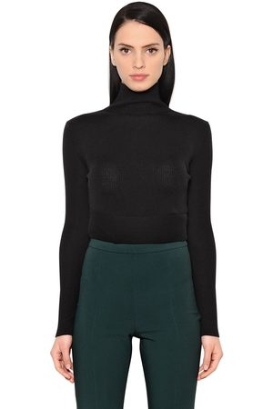 ANTONIO BERARDI Wool & Silk Cropped Sweater