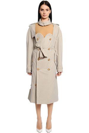 Maison Margiela Cutout Cotton Gabardine Trench Coat