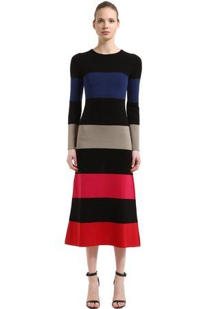 Sonia by Sonia Rykiel Striped Stretch Wool Blend Knit Dress
