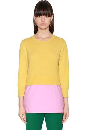 Marni Layered Knit & Poplin Sweater