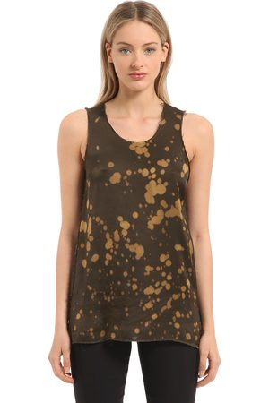 DAMIR DOMA Bleached Washed Satin Tank Top