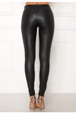 Selected Dame Leggings & Treggings - Sylvia Leather Legging Black 40