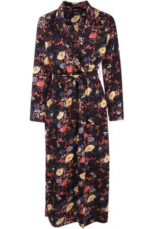 Boohoo Floral Printed Maxi Shirt Dress