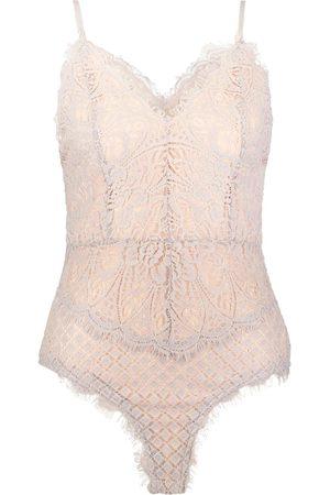 Boohoo Eyelash Lace Bodysuit