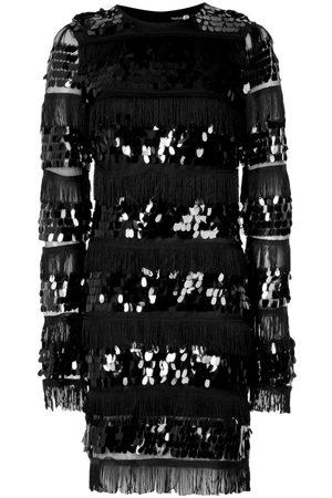 Boohoo Sequin and Tassel Long Sleeve Bodycon Dress