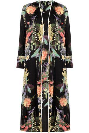 Boohoo Dark Floral Belted Kimono