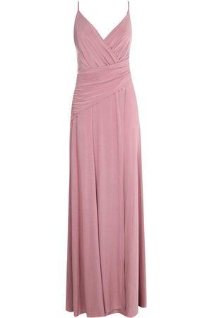 Boohoo Slinky Wrap Ruched Strappy Maxi Bridesmaid Dress