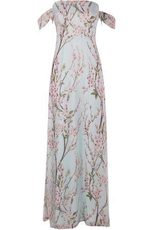 Boohoo Floral Off The Shoulder Maxi Dress