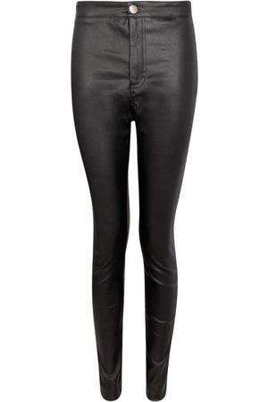 Boohoo Matte PU Coated Skinny Trousers