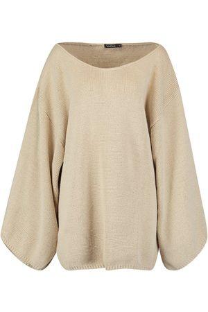 Boohoo Oversized Wide Sleeve Jumper Dress