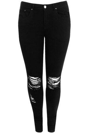 Boohoo Plus Ripped Knee Stretch Skinny Jean