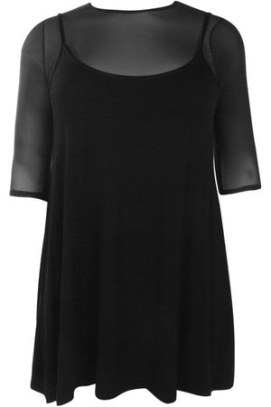 Boohoo Dame Bodycon kjoler - Plus Mesh 2 In 1 Cami Dress