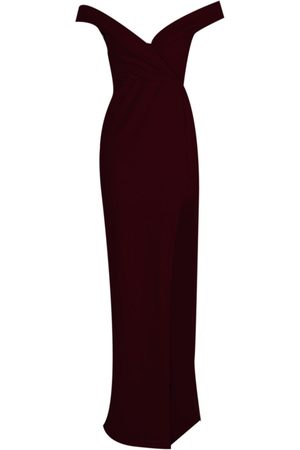 Boohoo Dame Maxikjoler - Wrap Off The Shoulder Maxi Bridesmaid Dress