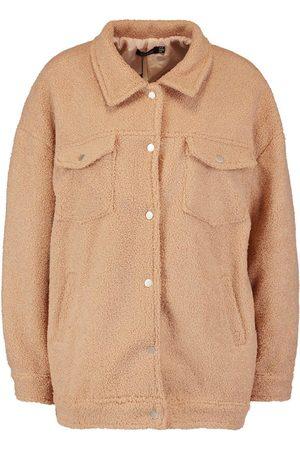 Boohoo Teddy Faux Fur Trucker Jacket