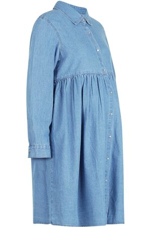 Boohoo Maternity Button Through Smock Dress