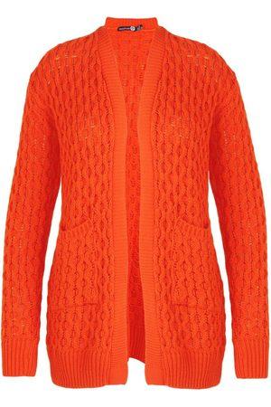 Boohoo Plus Crochet Knitted Oversized Cardigan