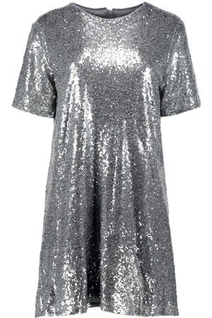 Boohoo Dame Festkjoler - Boutique Sequin T-Shirt Dress