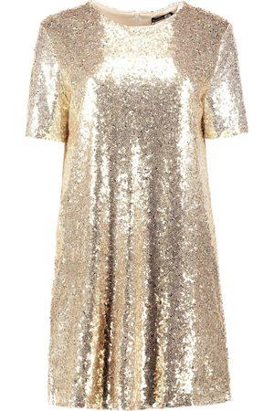 Boohoo Boutique Sequin T-Shirt Dress