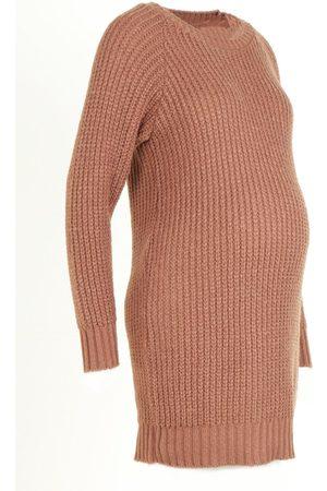 Boohoo Dame Strikkegensere - Maternity Soft Knit Jumper Dress