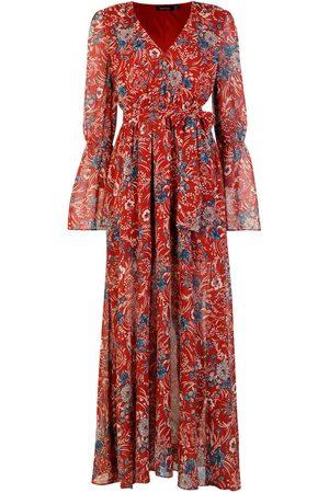 Boohoo Gabriella Bohemian Tie Detail Maxi Dress