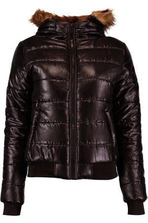 Boohoo Dame Pelsjakker - Faux Fur Hood Bubble Coat
