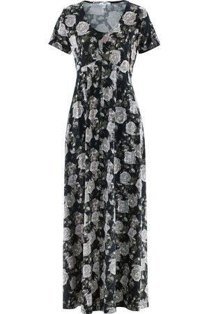 Bonprix Maxi-kjole i trikot, kort arm