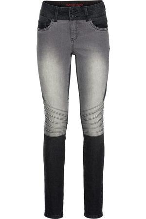 Bonprix Skinny jeans i bikerstil, tofarget