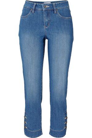 Bonprix Jeans med stretch og knapper, smal passform
