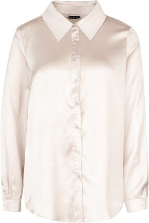 Boohoo Woven Satin Oversized Long Sleeve Shirt
